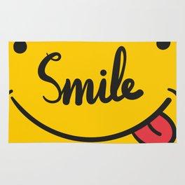 Playful Smile Typography llustration Rug
