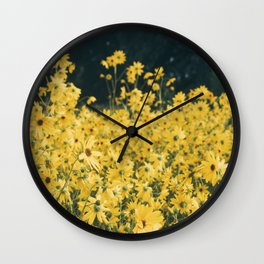 Daisies For Days Wall Clock