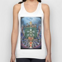 teacher Tank Tops featuring Ocean Teacher by MANASPHERE studio