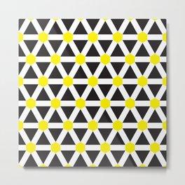 Geometric Pattern 116 (Yellow cross) Metal Print