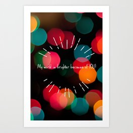 Brighter World Art Print
