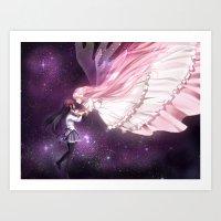 madoka magica Art Prints featuring Madoka Magica by alexiadraws