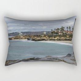 Casa and Wipeout Beaches, La Jolla, California Rectangular Pillow