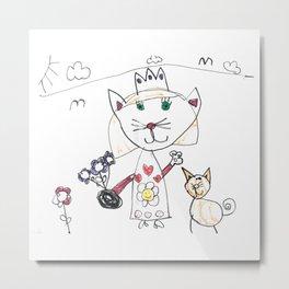 Cat Queen Metal Print