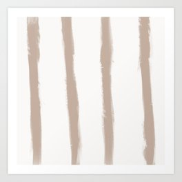 Medium Brush Strokes Vertical Nude on Off White Art Print