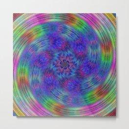 Liquid rainbow Metal Print