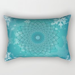 Ice Mandala Rectangular Pillow