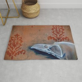 Oil Paint Study - Magpie Pattern Rug