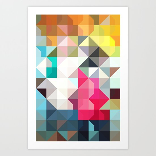 color story - pixelated warfare Art Print