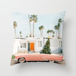 Christmas in Palms Springs Throw Pillow