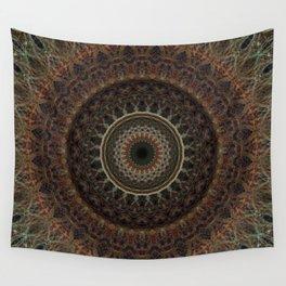 Mandala in brown tones Wall Tapestry