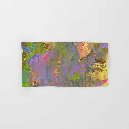 Messy Art II - Abstract, pastel coloured artwork in a random, chaotic, messy style Hand & Bath Towel