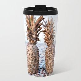 Gold Pineapples Travel Mug