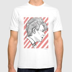 David Mens Fitted Tee White SMALL