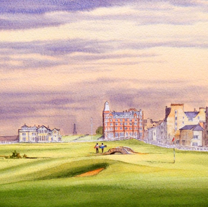 St Andrews Golf Course Scotland 17th Green Comforters