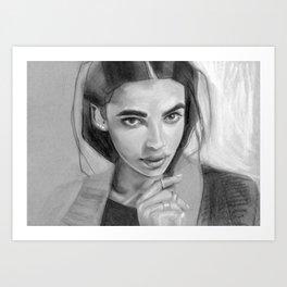 Charcoal Drawing No. 5 Art Print