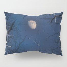 A Moon lit forest Pillow Sham