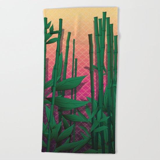 Japanese Sunset Beach Towel