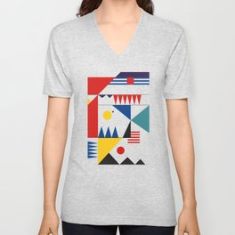 LANDSCAPES FROM THE PAST Unisex V-Neck