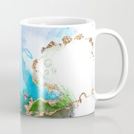 Abstract Marble Mermaid Gemstone With Gold Glitter Coffee Mug