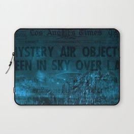 Mystery Air Objects Seen In The Sky Over LA Contemporary Art Portrait Laptop Sleeve