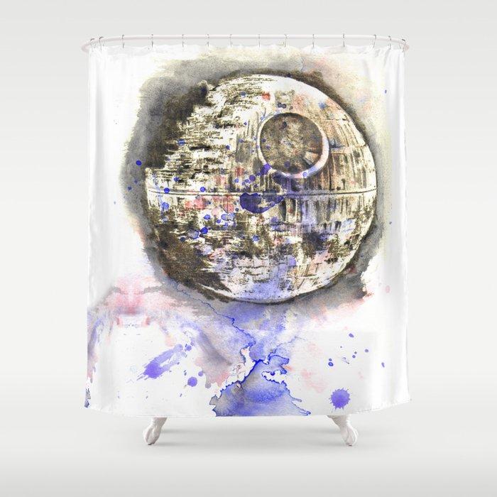 Star War Art Painting The Death Shower Curtain By Idillard