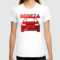 subaru T-shirts featuring Subaru Impreza - classic red - by Vehicle