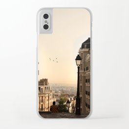 montmartre mornings Clear iPhone Case