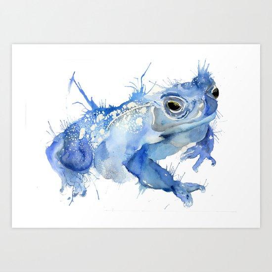 Big Blue Toad Art Print