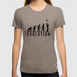 The Evolution Of Man And RC Aircraft T-shirt