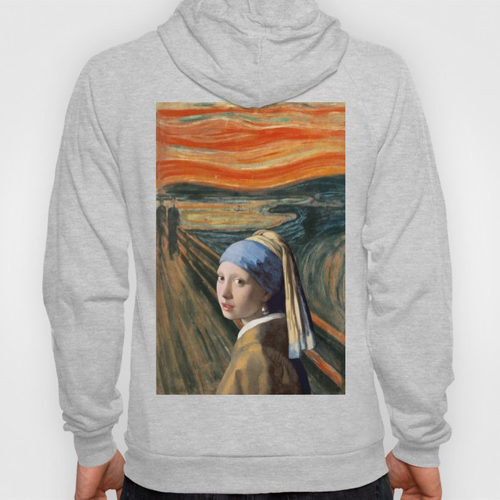 The Scream of Pearl Earring Girl Hoody