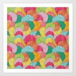 Hydrangea Haven Bright Summer Floral Art Print
