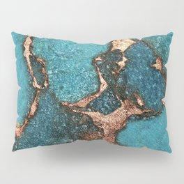 GEMSTONE  & GOLD AQUA Pillow Sham