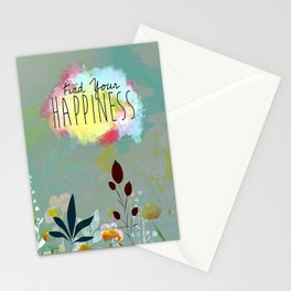 FIND YOUR HAPPINESS Stationery Cards