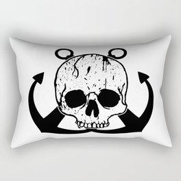Anchored Jolly Roger Rectangular Pillow