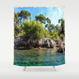 Ile Saint Marguerite Paradise Shower Curtain