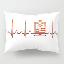 Software Engineer Heartbeat Pillow Sham