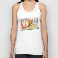 lemongrab Tank Tops featuring Greetings from Ooo / Adventure Postcard by jerseytigermoth