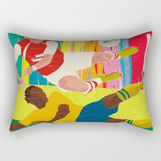 Deciding Game. Rectangular Pillow