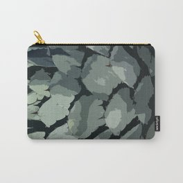 Abstract Aloe Vera Leaves Carry-All Pouch