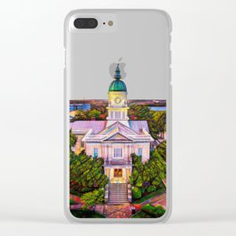 Athens, Georgia, Town Centre Clear iPhone Case
