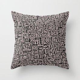 Doodlez Three Throw Pillow