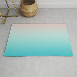 Pastel Ombre Millennial Pink Blue Teal Gradient Pattern Rug