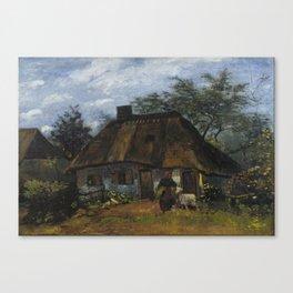 Vincent Van Gogh Farmhouse In Nuenen Canvas Print