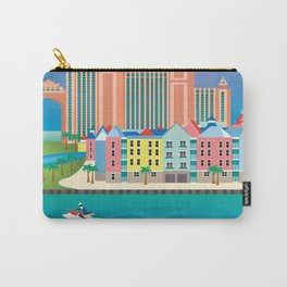 Nassau, Bahamas - Skyline Illustration by Loose Petals Carry-All Pouch