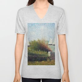 Georges Seurat - The Harbor Of Grandcamp - Digital Remastered Edition Unisex V-Neck