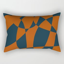 Blue and Rust Abstract I Rectangular Pillow
