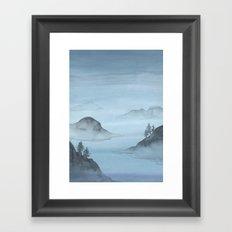 Blue Sound Framed Art Print