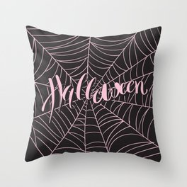pink halloween Throw Pillow