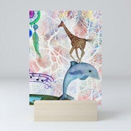 Totems by Maureen Donovan Mini Art Print